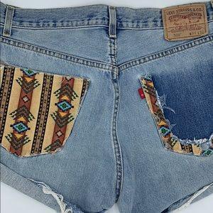 Vintage Levi's Shorts 505 Jeans Cut Off Retro 90s
